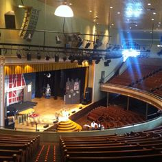 The Ryman. Got to take the tourist photo of me on the stage at the mic with a guitar. fun!