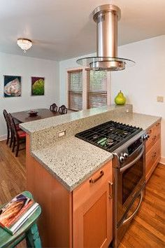 Captivating Slide In Stove In Island Design Ideas, Pictures, Remodel And Decor