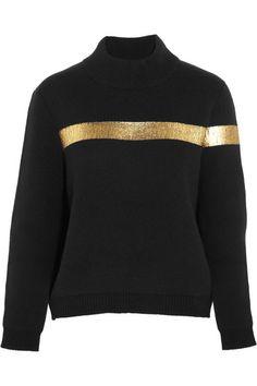 Asymmetrical metallic printed cashmere sweater | Jil Sander