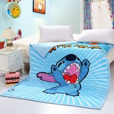 Superior Stitch Blue Disney Quilts Queen Size Bedspread, Cotton Fabric, Woven  Fabric, Disney Quilt