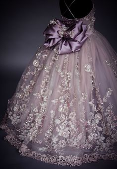 Serendipity Gown by Anna Triant Couture - flower girl Kids Frocks, Frocks For Girls, Gowns For Girls, Dresses Kids Girl, Flower Girl Dresses, Party Wear Dresses, Pageant Dresses, Little Girl Gowns, Moda Kids