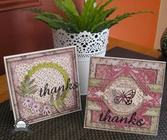 Couture Creations: Thanks Cards by Jo Simons