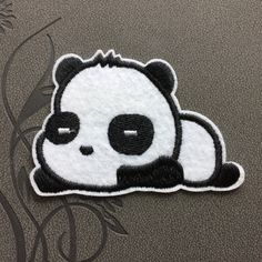 Cute panda patches iron on patches Sew on patches cartoon patch