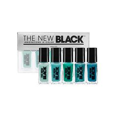The New Black Bank Holiday Weekend Ombre 5-Piece Nail Polish Set - Wave found on Polyvore