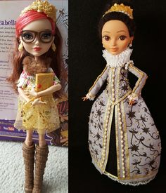 Ever After High, Rosabella Beauty repaint, reroot, & redress. | Spanish Renaissance Queen (full body before/after)