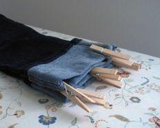 hemming pants tutorial