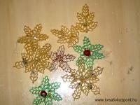 Karácsonyi pályázat - Tészta hópehely karácsonyfa dísz - Készülőben