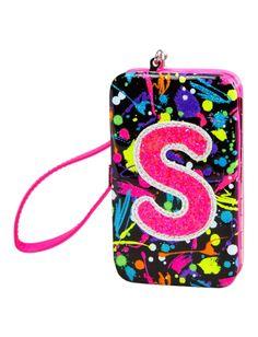Paint Splatter Initial Tech Wallet | Girls Initial Shop Gifts | Shop Justice
