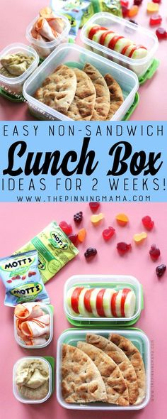 Hummus & Pita lunch box idea for kids! Just one of 2 weeks worth of non-sandwich… Hummus & Pita Brotdose Non Sandwich Lunches, Lunch Snacks, Hummus And Pita, Honey Glazed Ham, Easy Lunch Boxes, Bento Box Lunch For Kids, Bento Lunchbox, Dark Chocolate Cakes, Kids Meals