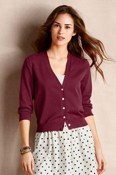 Women's Skinny V-neck Cardigan  - Shiraz, M