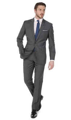 Fleming Mid Grey Tonic 2-Button Slim Fit Suit, £199 suit