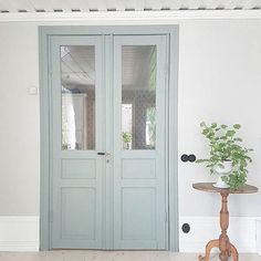 That door color! Restoration Hardware Bedroom, Porches, Beautiful Interior Design, Paint Colors For Home, Scandinavian Home, Coastal Cottage, French Doors, Home Deco, Colorful Interiors