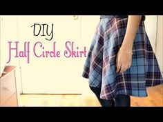 How to Make a Half Circle Skirt (without a pattern) - YouTube