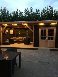 pergola how to build Douglas overkapping Backyard Bar, Backyard Sheds, Backyard Patio Designs, Backyard Landscaping, Summer House Garden, Home And Garden, Garden Bar, Cottage Gardens, Back Gardens