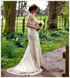 30's inspired wedding dress - Abbey wedding dress By Baroque Couture