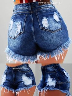 In most cases, when you buy jeans, it is usually found in long pants. Fashion In, Teen Fashion Outfits, Womens Fashion Online, Cute Casual Outfits, Short Outfits, Summer Outfits, Vetement Fashion, Mein Style, Trendy Swimwear
