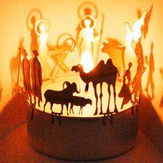 Nativity scene shadow play- lantern
