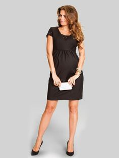Corporate, dinner party, evening out with friends. The little black dress covers it all. | Olive Maternity