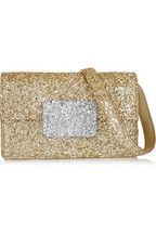 Saint Laurent | Lulu Bunny glitter-finished leather shoulder bag