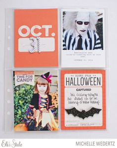 October 31st Project Life by Michelle Wedertz for Elle's Studio using the October 2015 exclusives