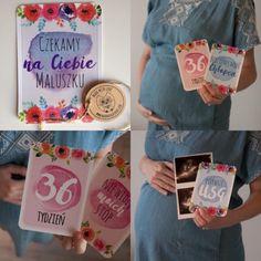 Cuda Wianki - Moja Ciąża - HooHooCreations_karty do zdjęć dla ciężarnej tydzień po tygodniu -idealny prezent dla przyszłej mamy