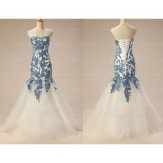 long prom dress, lace prom dress, blue prom