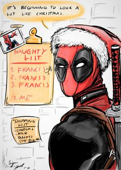 "Deadpool's Naughty List - <a href=""https://rockalin.tumblr.com"" rel=""nofollow"" target=""_blank"">rockalin.tumblr.com</a>"