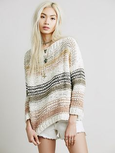 Free People Awash in Stripes Pullover, $268.00