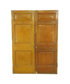 Medium tone office doors with three panels. These doors need work on the bottom. Please see the photos. Priced as a double. The […] Arched Doors, Entry Doors, Office Doors, Antique Interior, Antique Doors, Pocket Doors, Closet Doors, Double Doors, Cabinet Doors