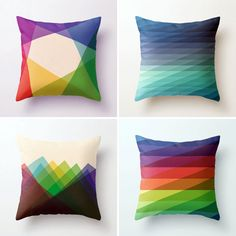 Geometric Pillow Cases | 20 Geometric Objects for Your Home