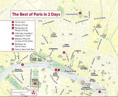 day 2 walking map of paris