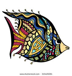 Find Owl zentangle Stock Images in HD and millions of other royalty-free stock photos, illustrations, and vectors in the Shutterstock collection. Zen Doodle, Doodle Art, Mosaic Tattoo, Watercolor Fish, Stained Glass Paint, Doodle Coloring, Quilling Patterns, Doodles Zentangles, Fish Art