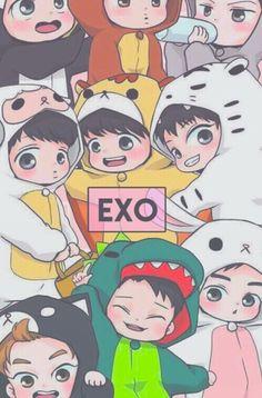 I just love these little Chibi Exo Fanarts' Exo chibi cute Kpop fanart Chen Suho Baekyhun Sehun Luhan Kai Tao Kris Lay Xiumin D. Kpop Exo, Lightstick Exo, Bias Kpop, Baekhyun, Lay Exo, Exo Memes, Exo Anime, Anime Guys, Anime Chibi