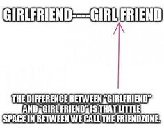 The difference between girlfriend and girl friend�