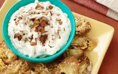 French Onion Dip with Gruyere Toasts Recipe by Food Network Kitchens