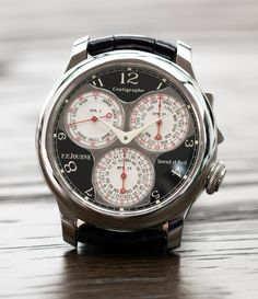 F. P. Journe Centigraphe Souverain Black Label 40 mm platinum pre-owned rare watch at A Collected Man London