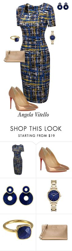 """Untitled #1024"" by angela-vitello on Polyvore featuring Christian Louboutin, Karl Lagerfeld and MICHAEL Michael Kors"