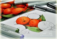 Texture with #copic #oranges