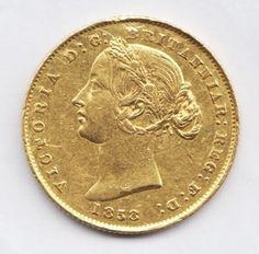 AUSTRALIA, Victoria, sovereign,1858  KM4  Fr.10   McD105   GOLD COIN  VERY RARE