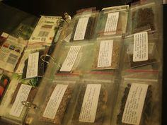 Sorting/Storing seeds in clear card sheets
