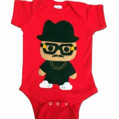 Rad Rapper Tall Hat Onesie, the coolest and most adorable baby clothes for baby showers, Christmas and new moms. Best gifts for kids, creative kid gift ideas, Christmas gifts, Secret Santa ideas, Christmas presents, kids ideas, kids toy ideas #GiftCreativity