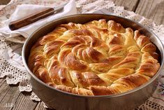 Decorative bread, with ricotta. (in Croatian) Baking Recipes, Snack Recipes, Snacks, Healthy Snaks, Greek Sweets, Cheese Pies, Savory Tart, Bread And Pastries, Special Recipes