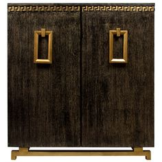 An American James Mont Style Black Cerused Oak Cabinet | From a unique collection of antique and modern cabinets at http://www.1stdibs.com/furniture/storage-case-pieces/cabinets/
