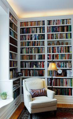 Library Shelves, Library Room, Bookshelves, Home Library Design, Home Office Design, House Design, Interior Trim, Interior Design, Border Oak