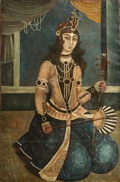 Woman Playing a Tar