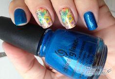 Blue Sparrow Neon China Glaze Clube das Esmaltadas