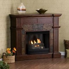 Upton Home Hollandale Espresso Gel Fireplace