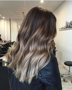 Image result for dark brown to grey ombre