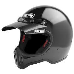 SIMPSON M50 DOT Motorcycle Helmet - Gloss Black