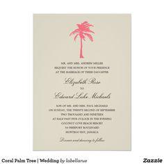 Coral Palm Tree | Wedding